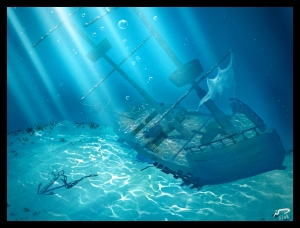 3D_Sunken_Ship_by_Majoh